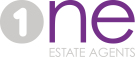1 ESTATE AGENTS, Glasgow logo