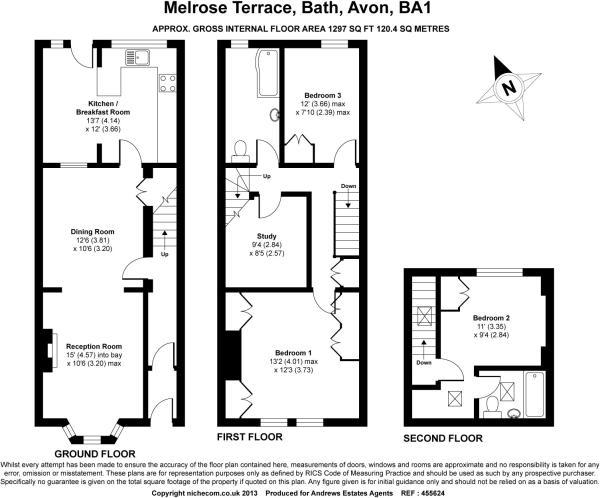 3 bedroom terraced house for sale in melrose terrace bath for Floor plans terraced house