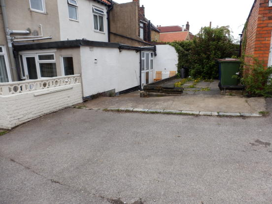 rear yard & parking