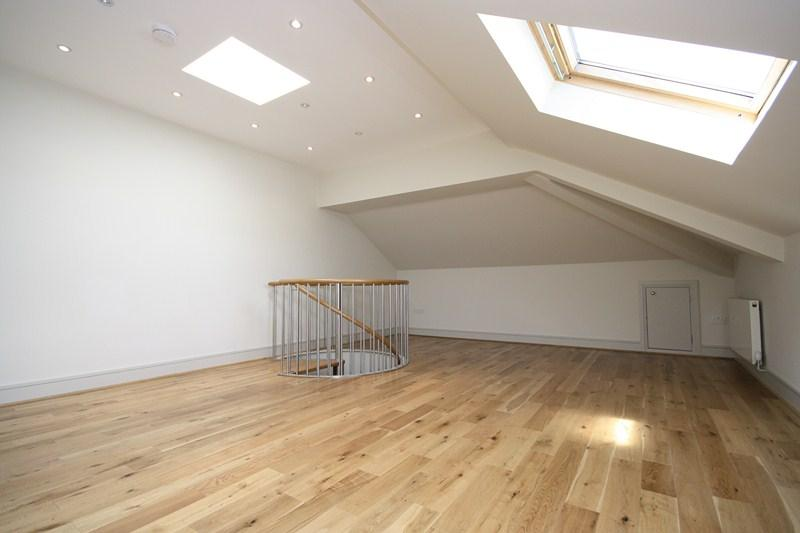 photo of beige white bedroom loft conversion master bedroom
