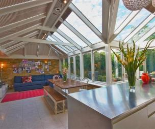 photo of white glass conservatory extension kitchen kitchen extension orangery