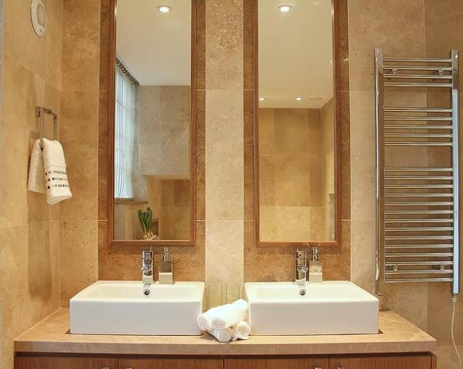 Mirrors tiles design ideas photos inspiration for His and hers bathroom