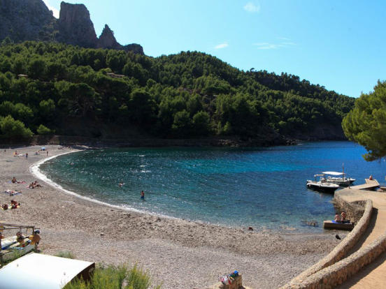 The cove of Cala Tuent