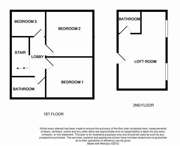 1st Floor & loft room plan