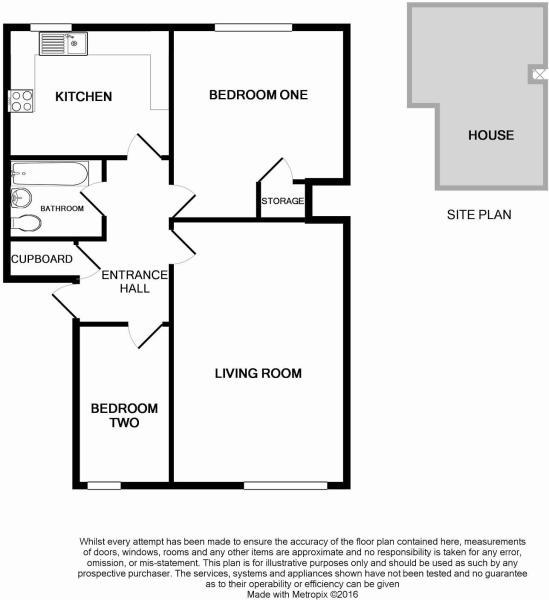 Floorplan of 2 bedrooms apartment PO22 Bognor Regis