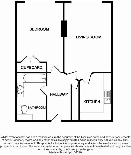 Floorplan of 1 bedroom apartment Worthing BN11