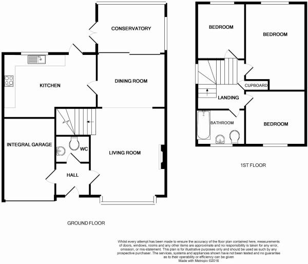 Floorplan of Three Bedroom in Durrington