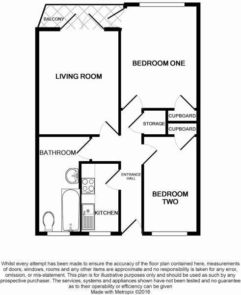 Floorplan of 2 bedrooms apartment Worthing BN11