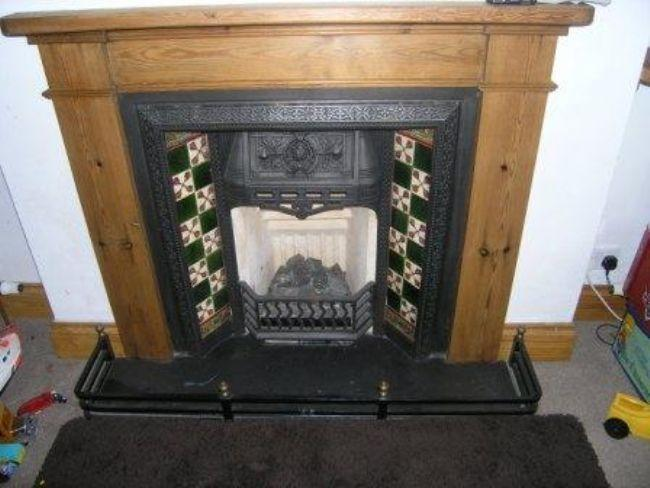 fireplace of dining