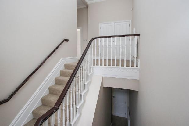 Sweeping stair...