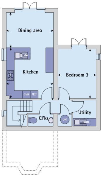 Lower ground floor plan