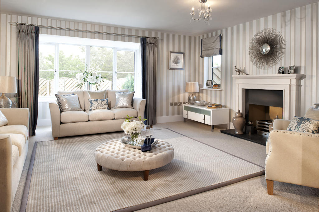 photo of beige white linden homes living room