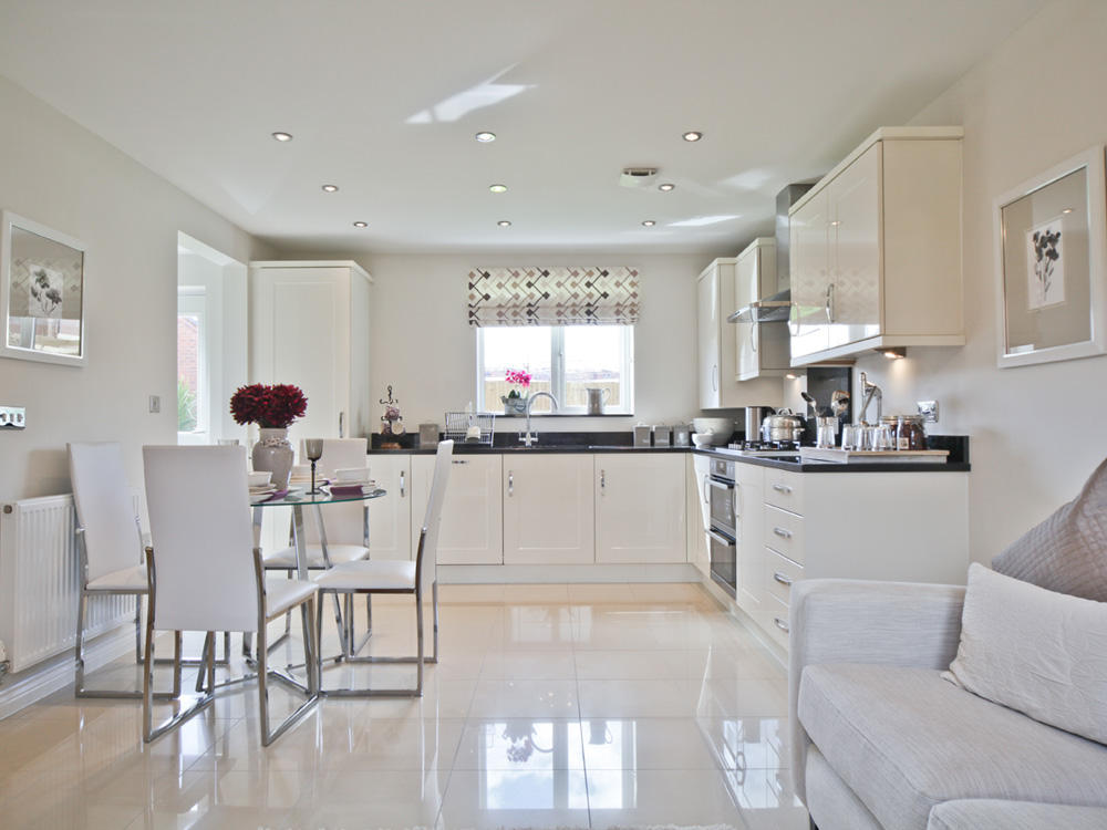 4 bedroom detached house for sale in tansey green road for Show home kitchen ideas