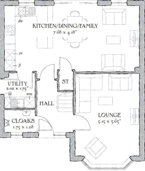400 Square Foot Home Plans in addition 2400 Square Feet 4 Bedrooms 2 5 Bathroom Cottage House Plans 2 Garage 33833 further Tiny House Plans Under 400 Square Feet further Nalukettu House Plans In Kerala in addition Redrow house floor plans. on 600 sq ft cottage floor plans