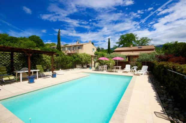 Pool and both houses