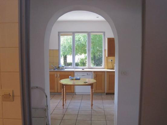 Kitchen overlooking