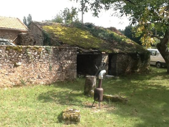 Stone shed and ruin