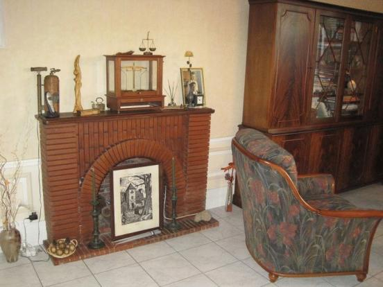 Fireplace in family