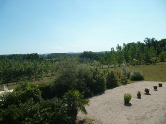 View towards chateau