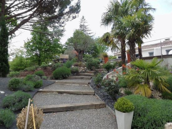 Garden leading to