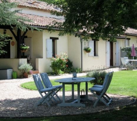 Private gîte garden