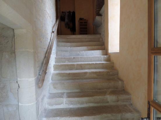 Main stairs to...