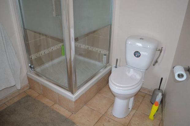Apartment shower...