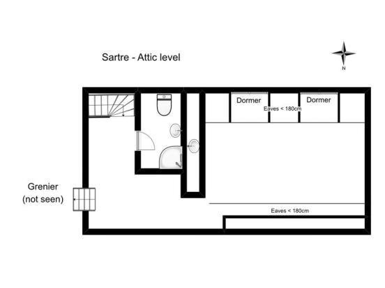 Attic apartment...