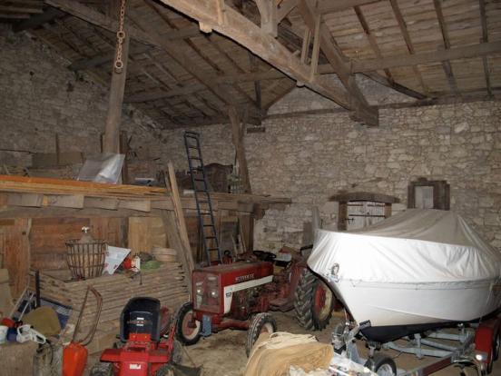 Inside barn...