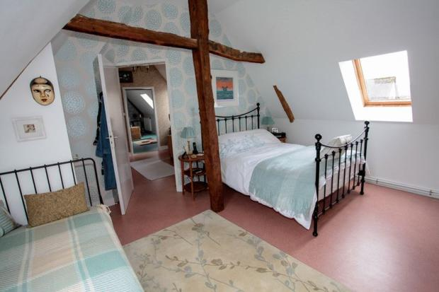 Boarded attic space