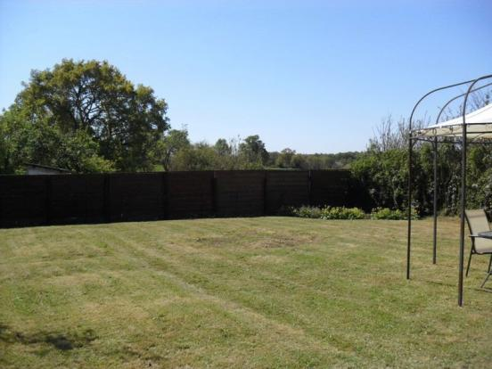The garden area...