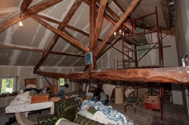 Loft partially...