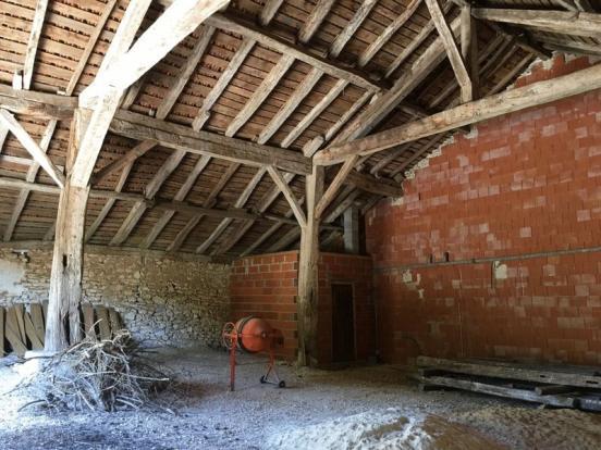 Inside barn (boiler