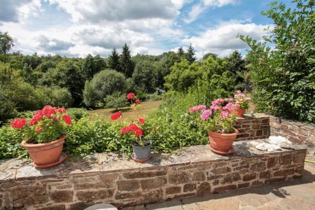 Terrace over garden