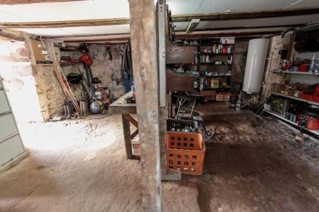 Workshop below house
