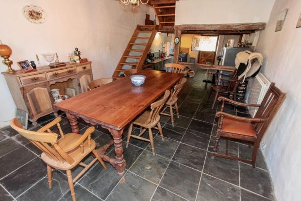Dining area looking