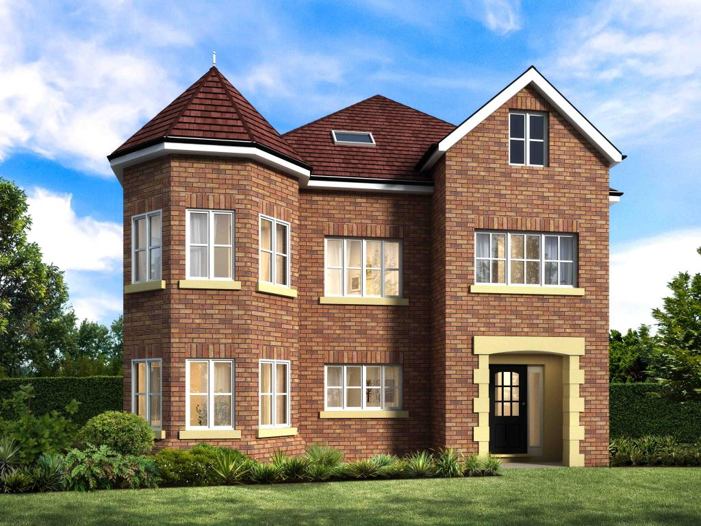 House Front Elevation Uk : Bedroom detached house for sale in wilmark homes new