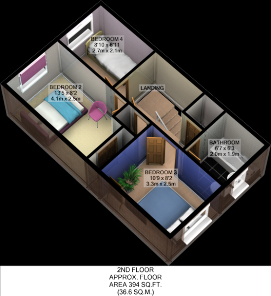 Floorplan 3D (Second Floor)
