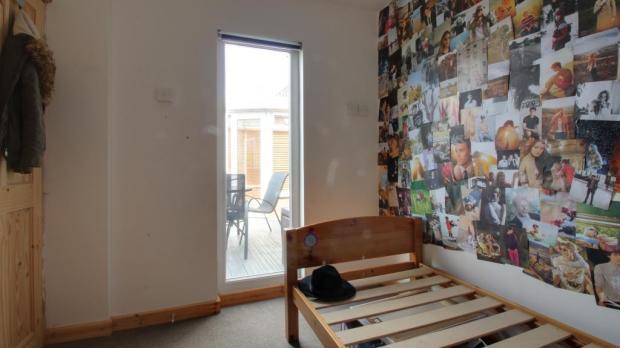 Room in garage.