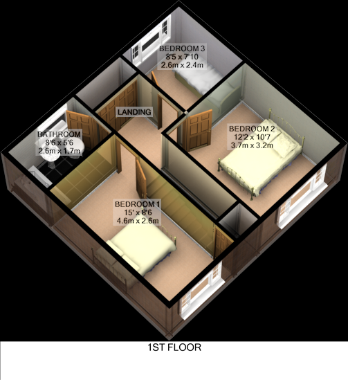 Floorplan 2D (First Floor)