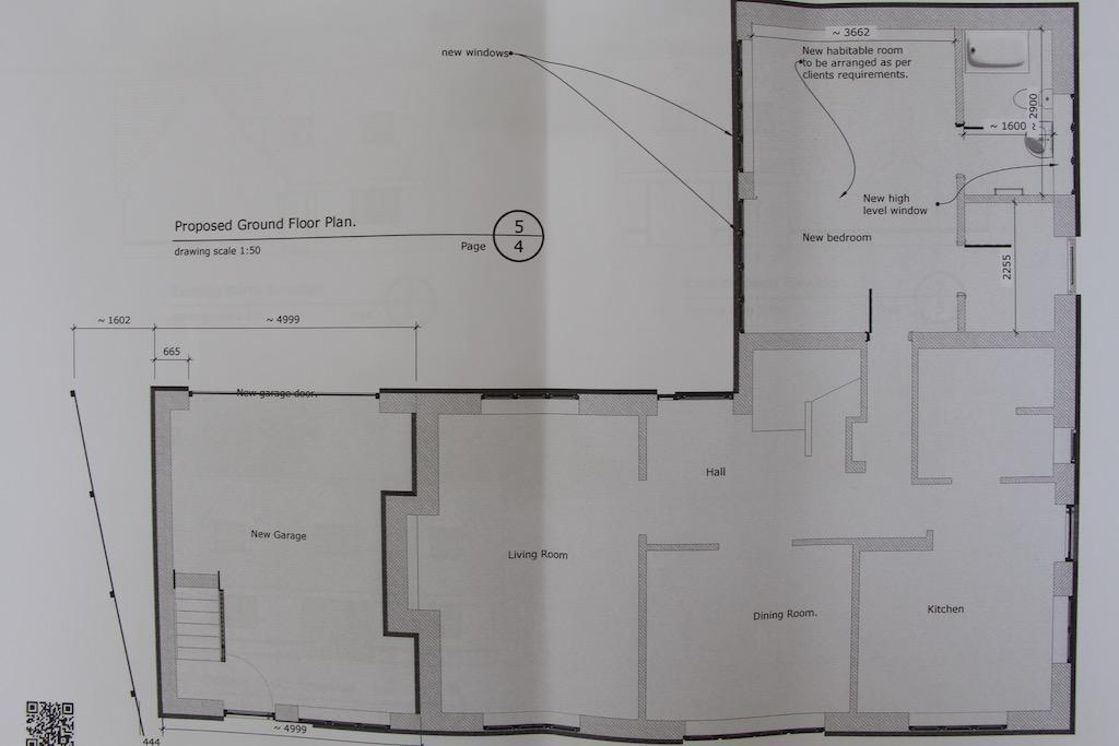 Proposed conversion plus new garage