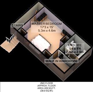 Floorplan 3D (Second Floor)