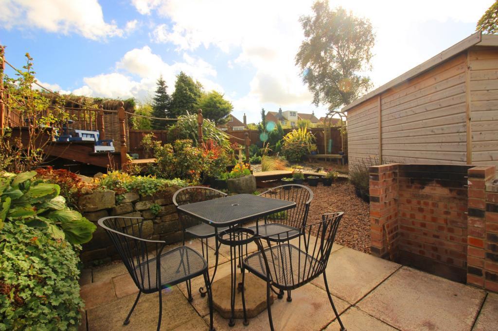 Bbq area of garden.