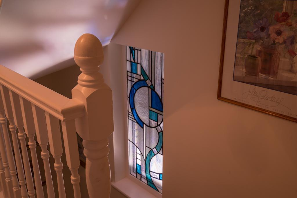 Window by stairs