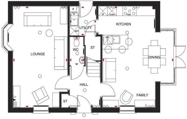4 bedroom detached house for sale in meynell road quorn david wilson homes cornell floor plan