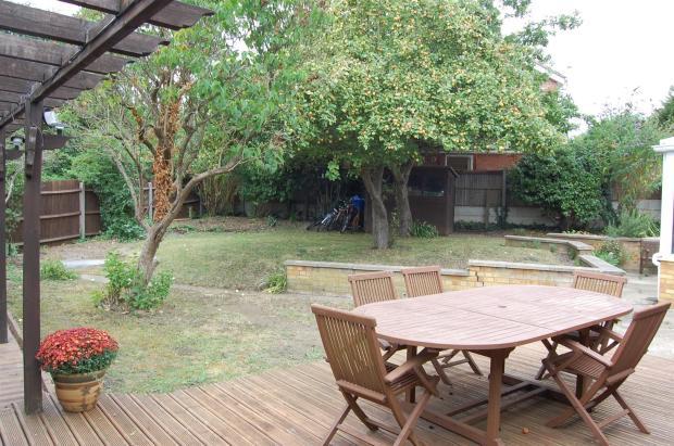 garden from decking.
