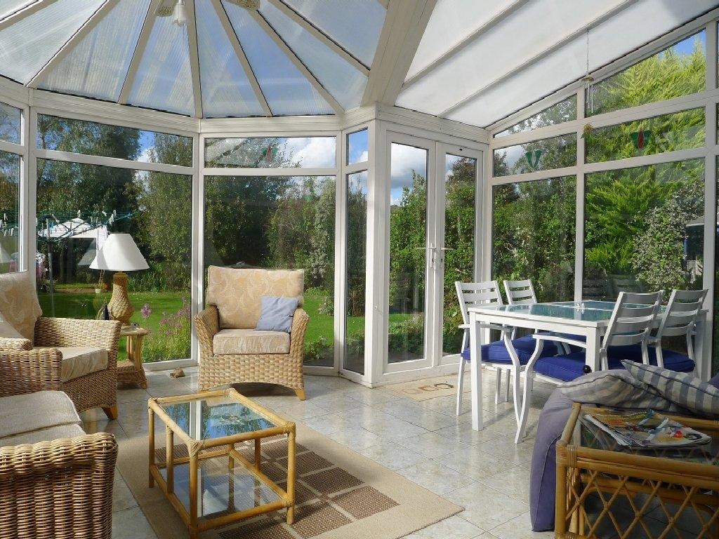 photo of white conservatory