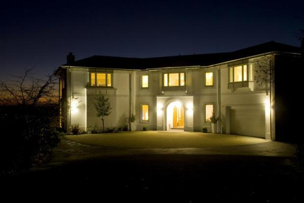 Night Shot Of House