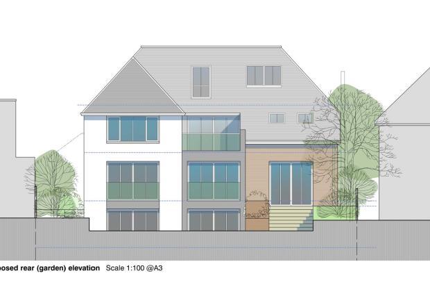 Proposed rear garden