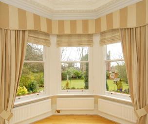 photo of beige with bay window